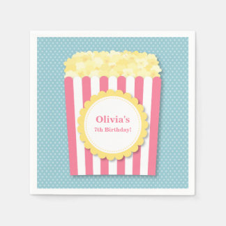 Popcorn Movie Night Birthday Party Supplies Paper Napkins