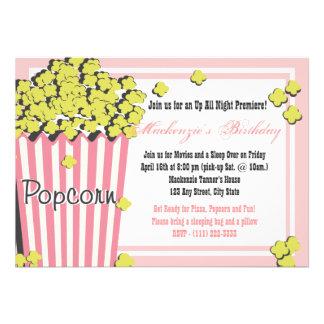 Popcorn Movie Sleepover Custom Announcement