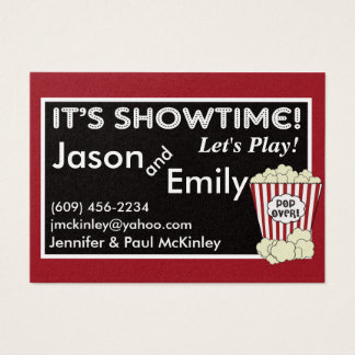 Popcorn Movie Themed Playdate Cards
