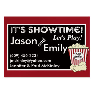 Popcorn Movie Themed Playdate Cards Pack Of Chubby Business Cards
