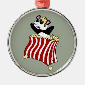 Popcorn Panda! Metal Ornament