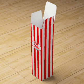 Popcorn Personalized Favor Box Wine Bottle Boxes
