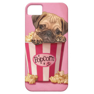 Popcorn Pug Barely There iPhone 5 Case