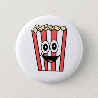 popcorn smiling 6 cm round badge