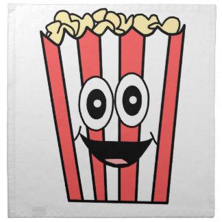 popcorn smiling napkin