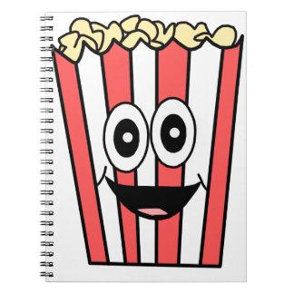 popcorn smiling spiral notebook