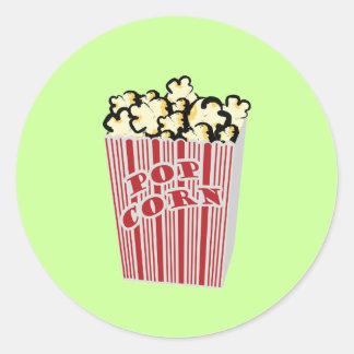 Popcorn Sticker! Round Sticker