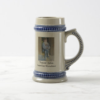 """Popcorn"" Sutton Legendary Moonshiner Beer Stein"