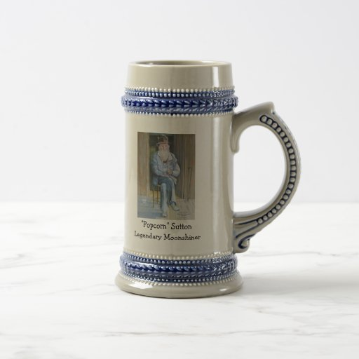 """Popcorn"" Sutton Legendary Moonshiner Coffee Mug"