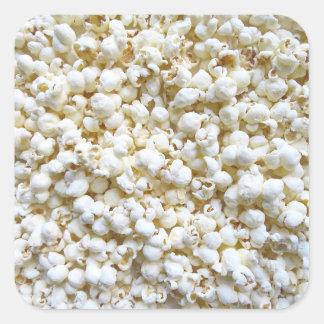 Popcorn Texture Photography Bright Decor Square Sticker