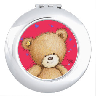 Popcorn the Bear Compact Mirror! Vanity Mirror