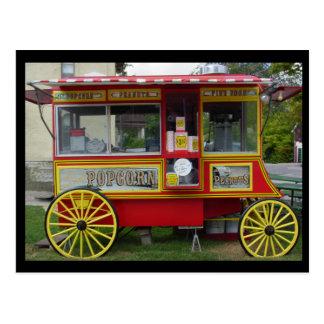 Popcorn Wagon Postcard