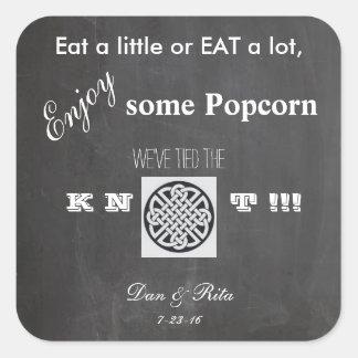 Popcorn Wedding Sticker