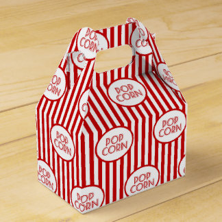 Popcorn word art party fun favor box