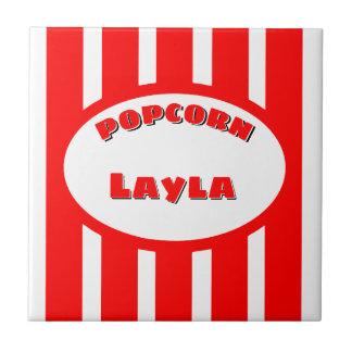 Popcorn Your name Ceramic Tile