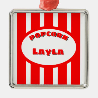 Popcorn Your name Metal Ornament