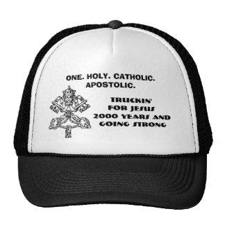 pope0000, ONE. HOLY. CATHOLIC. APOSTOLIC., Truc... Hat
