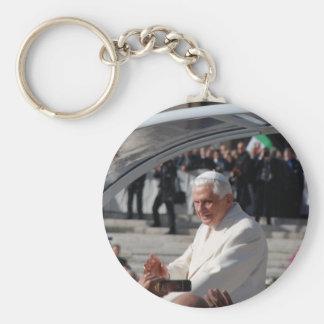 Pope Benedict Basic Round Button Key Ring