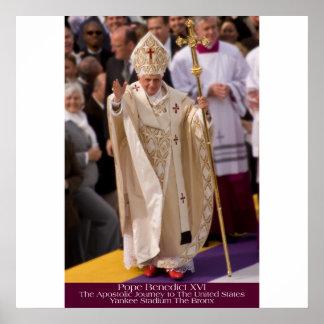 Pope Benedict XVI - Bronx NY  GDeAcosta Portrait Poster