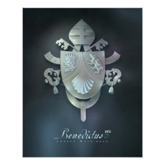 Pope Benedicts Coat of Arms Poster