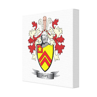 Pope Family Crest Coat of Arms Canvas Print