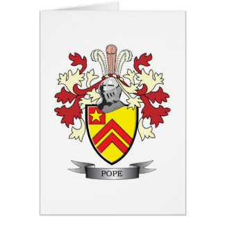 Pope Family Crest Coat of Arms Card