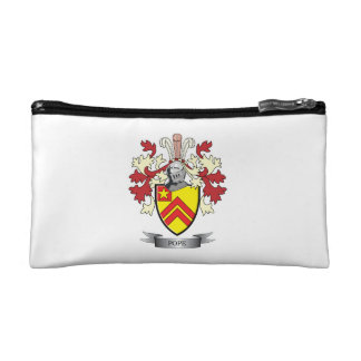 Pope Family Crest Coat of Arms Cosmetic Bag