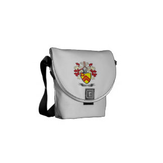 Pope Family Crest Coat of Arms Courier Bag