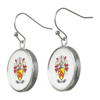 Pope Family Crest Coat of Arms Earrings