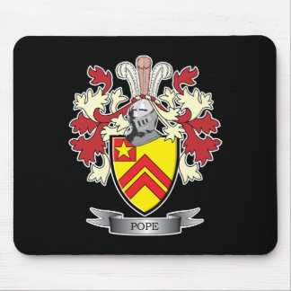 Pope Family Crest Coat of Arms Mouse Pad