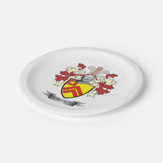 Pope Family Crest Coat of Arms Paper Plate