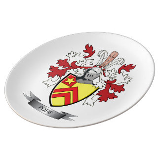 Pope Family Crest Coat of Arms Plate