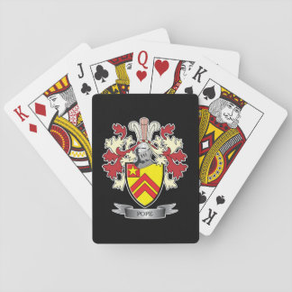 Pope Family Crest Coat of Arms Playing Cards