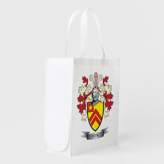Pope Family Crest Coat of Arms Reusable Grocery Bag