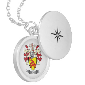 Pope Family Crest Coat of Arms Silver Plated Necklace