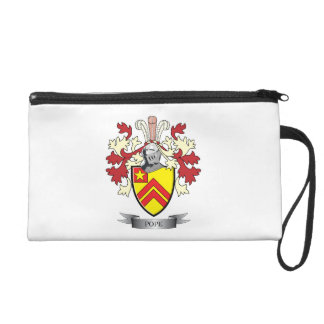 Pope Family Crest Coat of Arms Wristlet