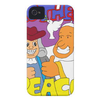 Pope Francis & Ben Frankin iPhone 4 Case-Mate Cases