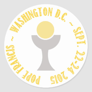 Pope Francis Papal Visit Washington D.C. 2015 Round Sticker