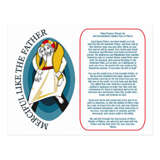 Pope Francis' Prayer for the Extraordinary Jubilee Postcard