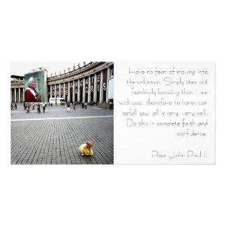 Pope John Paul II and Baby Customised Photo Card