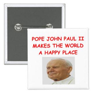 pope john paul II Pinback Buttons