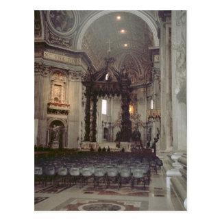 Pope John Paul II in the gallery in St Peter's Postcard