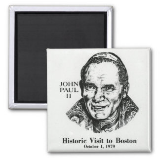 Pope John Paul II Square Magnet