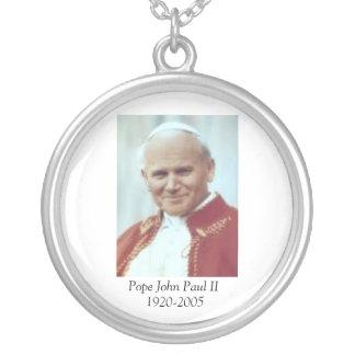 pope John Paul II Round Pendant Necklace