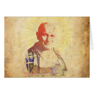 Pope John Paul II Papal Crest Greeting Card