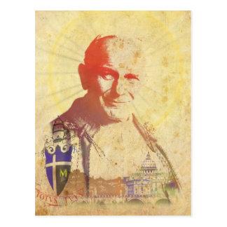 Pope John Paul II Papal Crest Post Card