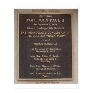 POPE JOHN PAUL II PHOENIX ARIZONA VISIT POSTCARD