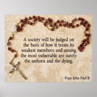 Pope John Paul II Quote Poster
