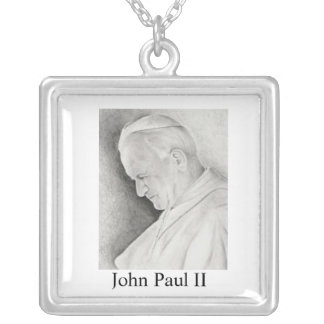 pope John Paul II Silver Plated Necklace