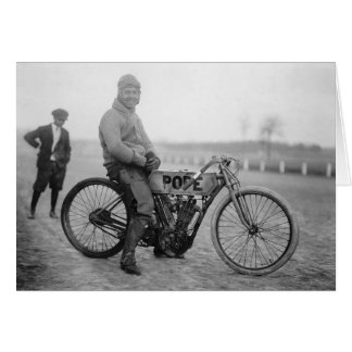 Pope Motorcycle Racer, 1915 Card